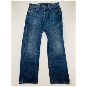 Levi's Red Tab 505 Straight Cut Dark Wash Jeans